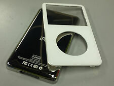 New White Front Faceplate + 128GB Back Cover Housing for iPod 5th 5.5 Gen Video