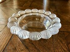 """Lalique Pornic Scallop Shell Candy Dish Bowl 8"""" Diameter Mint Signed"""