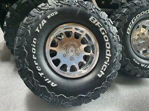4PCS Aluminum 2.1 inch Beadlock Wheels & Wheels Cap Lims for 1/10 RC Crawler