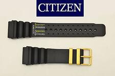 Citizen 24mm original DIVERS rubber watch band BLACK strap JH0004-01E JH0044-07