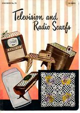 Television & Radio Scarfs Booklet Star Book #78 Crochet Patterns American Thread
