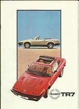 Triumph TR7 DROPHEAD & tête fixe brochure début des années 80