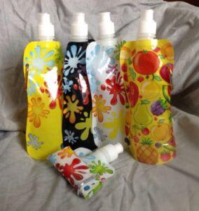 Foldable Water Bottles, BPA Free, 50pcs multi designs wholesale lot
