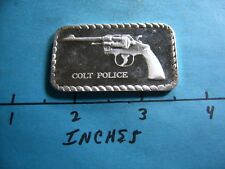 COLT POLICE REVOLVER GUN 999 SILVER ART BAR RARE ITEM COOL NICE GIFT IDEA
