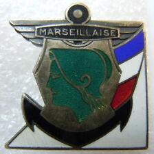 Insigne Marine 1939 Croiseur LA MARSEILLAISE AB déposé émail ORIGINAL