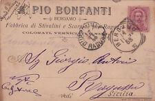 * BERGAMO - Pubblicitaria Fabbrica Scarpe Bonfanti 1899
