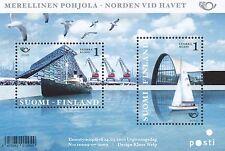 Finland 2010 MNH Sheet - Nordic Maritime - Sailing Boat - Harbor - Ships - Birds
