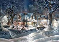 Christmas Night DIY 5D Diamond Painting Embroidery Cross Stitch Room Decor Gift
