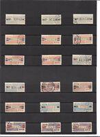 DDR 1959/60, Michenrn: Dienstmarken B aus 26 - IV o, Einzelmarken o, gestempelt