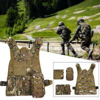 4 Color Tactical Vest Airsoft Paintball Molle Combat Assault Game Vest Unisex
