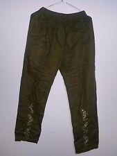 Indische Hose Pajama Jeans mit Strickerei Boho Goa Größe M/L