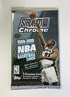 1999-2000 Topps Stadium Club Chrome NBA Basketball Single Hobby Pack (Refractor)