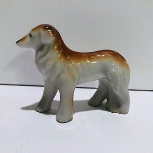 Porcelain Collie Dog Figurine Made in Japan Vintage