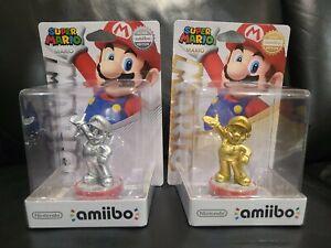 Rare Nintendo Super Mario Gold And Silver Amiibo Edition