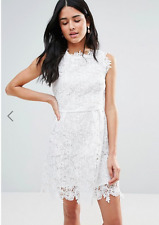 Zibi London Ladies  All Over Lace Skater Dress in White UK 12/ EU 40