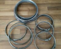 ROVER P5 - P5B CHROME HEADLIGHT SURROUNDS JOB LOT 8 IN TOTAL