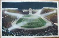 Los Angeles, CA 1932 Postcard: Coliseum Football Game, Exposition Park