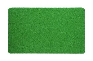 Artificial Grass Doormat Outside High Traffic Front Synthetic Turf Rug Green