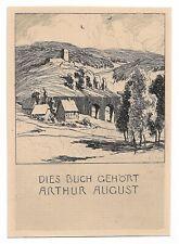 OTTO UBBELOHDE: Exlibris für Arthur August