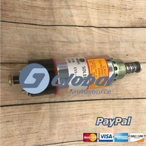 GA 155-4652 24V Shutoff Solenoid for Caterpillar CAT Wheel Loader Skidder Tract