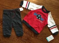 NWT BABY BOYS SIZE 6 MONTHS BEST BEGINNINGS TWO PIECE SET Top & Pants MSRP $22