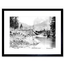 Vintage Train Scene Buster Keaton Movie Cottage Grove Framed Wall Art Print