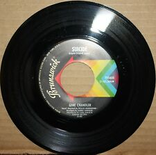 GENE CHANDLER **Suicide** THIS BITTER EARTH Northern Soul 45 on BRUNSWICK 755425