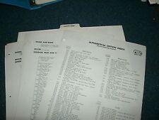 1976 CHEVROLET CHEVY VAN DEALER ALBUM OPTIONS SHEETS PAGES SET