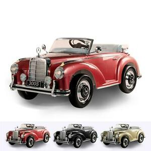 Classic Mercedes 300S Kids Ride On Car 12V Battery & Remote Control Leather Seat