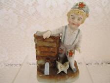 Antique Vintage Match Striker Holder Figurinr~Boy or Elf~Germany