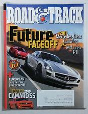 ROAD & TRACK CAR MAGAZINE 2009 JUNE MERCEDES GULLWING SLS AMG MCLAREN P11 CAMARO
