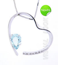 COMETS JEWELRY NECKLACE HEART AQUAMARINE GLQ 169