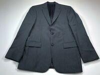 HUGO BOSS Pasini2/Movie2 38R Virgin Wool Sport Coat Blazer Jacket Gray Stripe