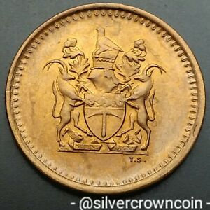 Rhodesia Zimbabwe 1 Cent 1976. KM#10. Bronze One Penny coin. #1