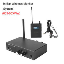 UHF Stereo Monitor System Wireless 6CH In-ear + Headphones 863Mhz-865Mhz Durable
