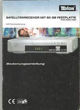 Tevion PVR 8005 HDD Bedienungsanleitung Satellitenreceiver mit 80 Gb Festplatte