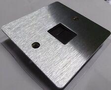 Royale Brushed Chrome Phone Master Socket Black Insert &