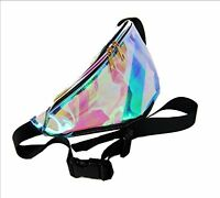 Fanny Pack Punk Lady Girl Retro Rainbow TransparentBum Women Purse Waist Bag