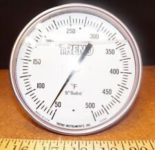 "50-500 TREND INSTRUMENTS  5"" ADJUSTABLE METAL THERMOMETER MODEL 520BE"
