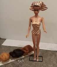 Vintage Fashion Queen Barbie Doll with 3 Wigs and Stand