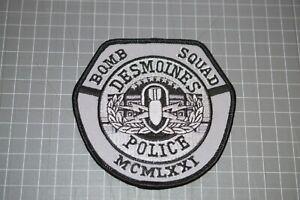 Des Moines Iowa Police Bomb Squad Patch (B17-8)