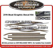 Huge Boat Graphic & Stripe fits Crestliner Sportfish SST 2150