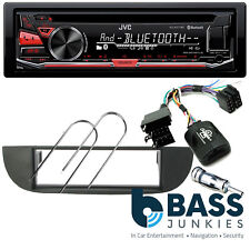 Fiat 500C 2007 On JVC Bluetooth USB CD MP3 AUX iPhone & SWC Car Stereo Black Kit