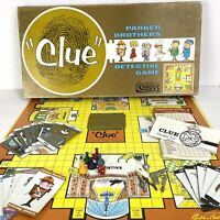Clue Vintage 1963 Family Detective Board Game Complete Parker Brothers USA Made