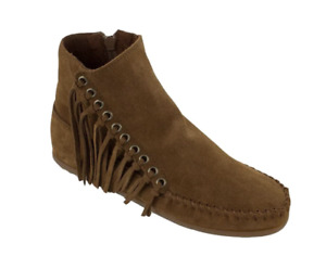 BRAND NEW - Women's Minnetonka Willow Ankle Boot - Size 6 - Dusty Brown Suede