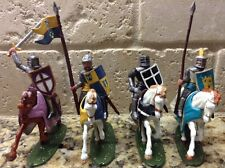 Toy Soldiers 4 Plastic 54mm Medieval Mounted Knights