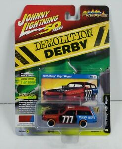 Johnny Lightning 50 Years Demolition Derby 1972 Chevy Vega Wagon Version A
