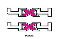 """4x4 Off Road Truck Bed Decal Set For Ford F150 Raptor Vinyl Stickers 16""""x3"""" PINK"""