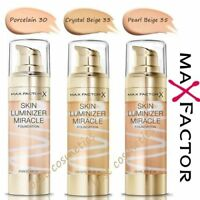 New Max Factor Skin Luminizer Miracle Foundation 3 Different Shades 30ml Sealed