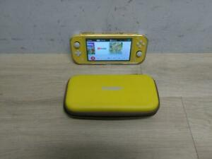 Nintendo Switch Lite Yellow Handheld Console w/ Case